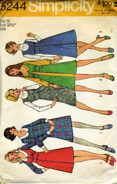 Simplicity patterns  My mom would take us to the fabric store and pick out material and patterns to sew ALL of our clothes,..I'm sure we had this one and many more.