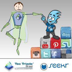 Parceira entre a inteligência e a tecnologia. Esta é a definição da parceira firmada entre a agência digital Tec Triade Brasil e a Seekr – gestão e monitoramento de marcas em mídias sociais.    Com a parceria, as duas empresas estreitam seus laços e começam a trabalhar juntas em projetos para prospecção de clientes...