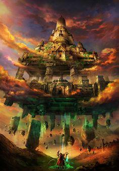 Temple summoning by AlienTan on DeviantArt