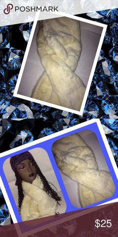 "Cream Color Faux Fur Neck Warmer Wrap (NWT) Cream color. Thick and warm. 45"" Long. Accessories Scarves & Wraps"