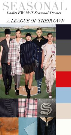 Trend Council:  Ladies FW '14'15 Seasonal Themes - A League Of Their Own