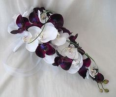 purple and white wedding bouquets - Google Search