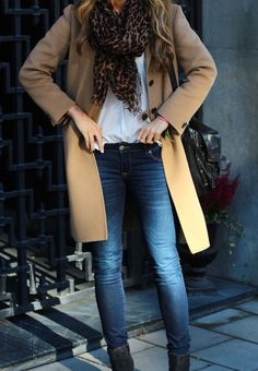 Camel, denim and leopard.+fun:)-k