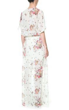 Image 3 of LONG ORIENTAL CROSSOVER DRESS from Zara