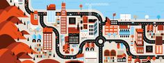 Cities, Roads & Factories #2 by Loulou and Tummie , via Behance