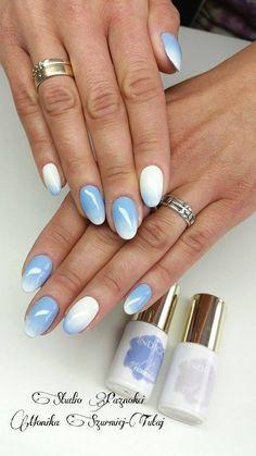 by Monika Szurmiej Tutaj Indigo Young - Follow us on Pinterest. Find more inspiration at www.indigo-nails.com #nailart #nails #indigo #blue #ombre