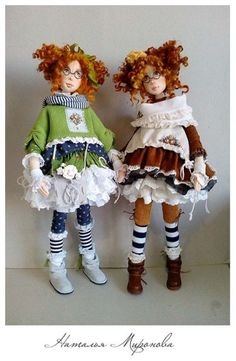 НАТАЛЬЯ МИРОНОВА - Photo from album Clay Dolls, Doll Toys, Pretty Dolls, Beautiful Dolls, Fabric Dolls, Paper Dolls, Doll Sewing Patterns, Realistic Dolls, Soft Dolls