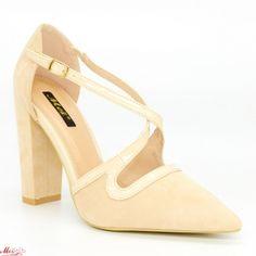 Incaltaminte Dama Pumps, Heels, Beige, Fashion, Heel, Moda, La Mode, Pump Shoes, Pumps Heels