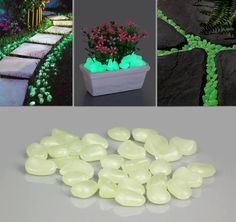 Creative Ideas - Glow-in-the-Dark Pebbles for Walkway