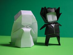 ohmygod adorable origami bride and groom