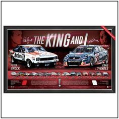 THE KING & I – A PERSONALLY SIGNED, LITHOGRAPHIC TRIBUTE TO PETER BROCK #peterbrock #brocky #kingofthemountain #craiglowndes #bathurst
