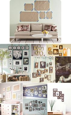 wall layouts DIY - Hanging Pictures - Some Tips & Inspiration. Decoration Photo, Diy Home Decor, Room Decor, Diy Hanging, My New Room, Home Projects, Sweet Home, House Design, Interior Design