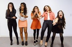 You just witnessed someone slip on a banana peel: | All The Fifth Harmony Reaction GIFS You'll Ever Need