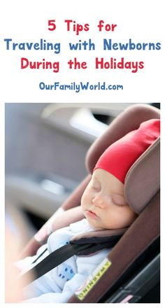 Traveling during the holidays with a newborn? Check out our tips to make it a little less stressful, from keeping little noses clear with #hydrasenseCA to planning travel around your baby! #ad