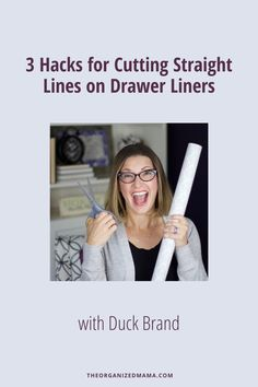 Do you find it tricky to cut drawer liners in a straight line? I do! Especially those drawer liners that are thicker and don't have cut lines. In this post, I'm sharing 3 hacks to cutting straight lines on drawer liners. These are easy tricks you can try to get clean lines without the fuss! #lifehack #getorganized