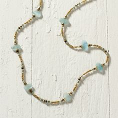 Pooled Aqua Necklace in Jewelry+Accessories COLLECTIONS Featured Artists Lulu Designs at Terrain