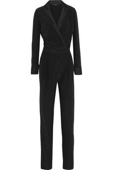 Gucci Satin-trimmed silk-crepe jumpsuit | NET-A-PORTER