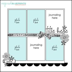 Scrapbook layout good for events using more pics gets the job done in one page.( I'd use only one space for journeling) Scrapbook Layout Sketches, Scrapbook Templates, Scrapbook Designs, Card Sketches, Scrapbook Paper Crafts, Scrapbooking Layouts, Sketch 4, Disney Scrapbook, Baby Scrapbook
