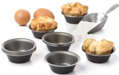 12 INDIVIDUAL QUALITY PANS 3.1 Inch SET: Perfect for baking individual desserts/recipes of tarts, tartlets,cupcakes,pies,cheesecakes,etc. JUST CHECK OUR REVIEWS