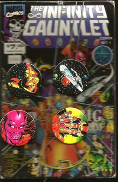 INFINITY GAUNTLET Button Set #0484 Marvel THANOS etc. Comic Images