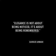 Meilleures Citations De Mode & Des Créateurs : elegance armani frenchbydesignblog