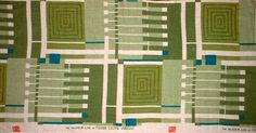 Frank Lloyd Wright - A Printed Linen Textile Sample. Manufactured by Schumacher, 1955.