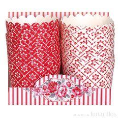 Cápsulas para cupcakes Alba Red (20) GreenGate - Tienda online de repostería y cocina