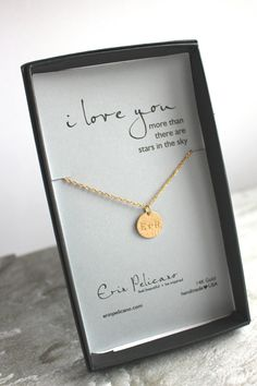 Anniversary Gift For Wife Personalized Bride Her Love Necklace Monogram 1st Girlfriend Birthday