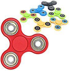 Tri-Spinner Fidget Toy 3D Printing Ceramic Bearing EDC Focus Toy for Killing Time (Black)