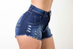 Cute Casual Outfits, Stylish Outfits, Summer Outfits, Blue Jean Shorts, Denim Shorts, Cute Fashion, Fashion Outfits, Jeans For Short Women, Beautiful Outfits