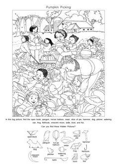 영어 숨은그림찾기 프린트 <1> : 네이버 블로그 Hidden Pictures Printables, Hidden Picture Puzzles, Jokes And Riddles, Hidden Objects, Fun Worksheets, I Spy, Fun Learning, Line Art, Coloring Pages