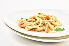 Spaghetti mit Räucherlachs und Estragon