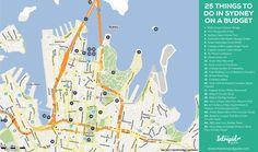 sydney city tourist map