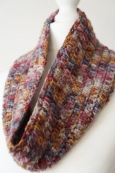 One Skein Cowl by Little Doolally | malabrigo Worsted in Milonga colorway Freepattern