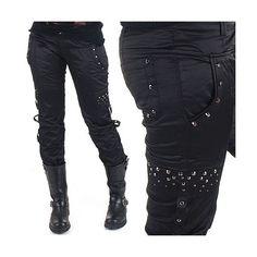 Pantalones Con Tachuelas estilo Ropa Gotica