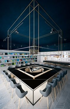 Science Cafe and Library designed by Anna Wigandt in Chisinau librari