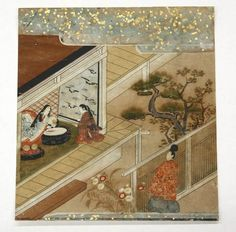 Japanese Tosa School Painting, Tales of Ise