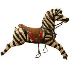 19th Century Carousel Zebra