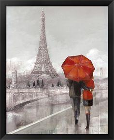 Ruane Manning Premium Thick-Wrap Canvas Wall Art Print entitled Modern Couple in Paris, None Paris Painting, Oil Painting On Canvas, Canvas Wall Art, Wall Art Prints, Poster Prints, Big Canvas, Canvas Size, Paris Canvas, Paris Wall Art