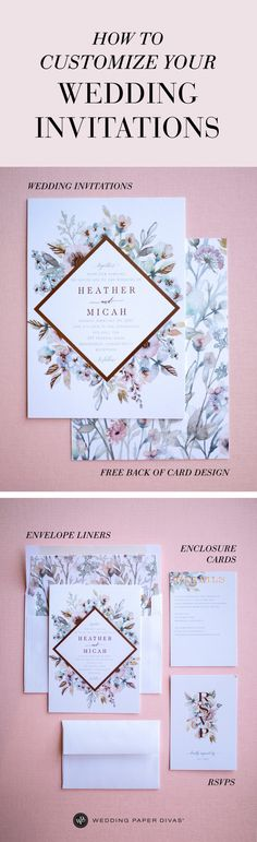 give your invitation suite a stunning impression with matching back designs, envelopes, and enclosure cards [ad] Chic Wedding, Wedding Engagement, Wedding Details, Our Wedding, Dream Wedding, Country Wedding Invitations, Wedding Stationary, Second Weddings, Invitation Suite