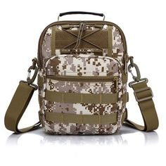 Tactical Camping Outdoor Sport Chest Pack Crossbody Shoulder Bag. Description: Color: Khaki, Black, Desert Digital, ACU, Digital Jungle, CP, Camouflage Material: Nylon Weight: Approx. 550g Detail in Size: Length: 21cm(8.26inch) Width(depth): 10cm(3.93inch) Height: 31cm(12.20inch) Adjustable belt: 44cm-85cm(17.32''--33.46'') Note: If you need the small size,please click here: SKU224513 Package: 1Xbag Different Angles of Desert Digital Color The Internal Structure The Detailed Drawing The…