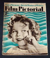 9-34 Film Pictorial Magazine UK - Shirley Temple on Cover, Beery, Garbo, Moore