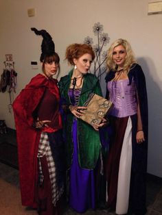 Hocus Pocus Sister Costumes, Best Friend Halloween Costumes, Girl Costumes, Costumes For Women, Hocus Pocus Costumes, Group Of 3 Costumes, Family Costumes, Trio Halloween Costumes, Halloween Costumes For Girls