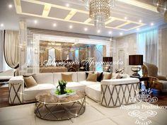 Дизайн проект интерьера гостиной в стиле Ар Деко в Барвихе. Фото 2017 - Гостиные