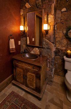 Cabin+Bathroom+Vanity+Ideas | ... Small Bath Ideas , Traditinal Half Bathroom Design Ideas: Bathroom