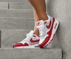 new product 0159e b9cba Nike air max 901 casual shoes womens sneakers - white  grey  university  red