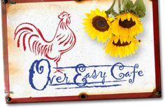 Over Easy Cafe Sanibel Island, FL  Such a warm a friendly place for breakfast!
