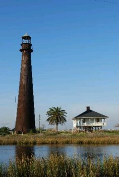 Bolivar lighthouse (Note for my fellow picky people: if you see this labeled Bolivar Island - or Galveston Island for that matter - it's wrong. It's across the jetties from Galveston, on the mainland. Bolivar is actually a peninsula.)