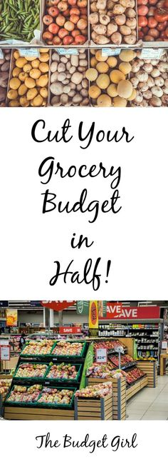 10 tips to cut your grocery budget in half. Save on groceries tips, save money on groceries