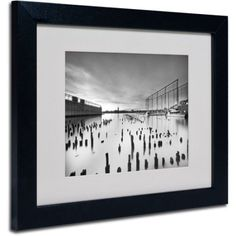 Trademark Fine Art Palimpsest Matted Framed Art by Geoffrey Ansel Agrons, Black Frame, Size: 11 x 14